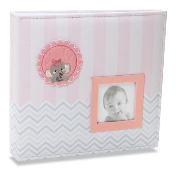 Álbum De Fotos Bebê Tecido 100 Fotos 15x21 812 - Ical