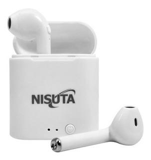 Auricular Bluetooth Earbuds Con Cajita Recargable Nisuta