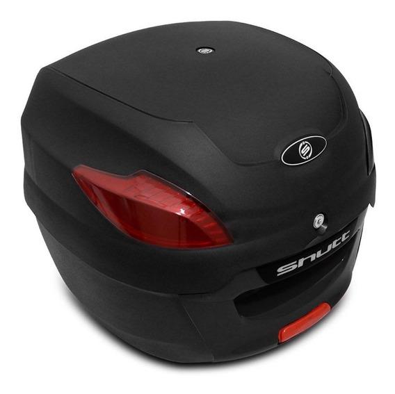 Baú Moto Bauleto Bagageiro 41 L Shutt Preto Com Chave E Base