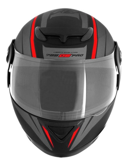 Capacete para moto integral Pro Tork Evolution G6 Pro preto, vermelho tamanho 56