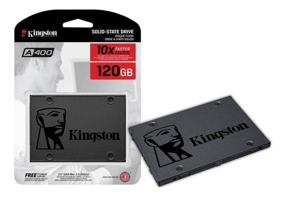 Hd Notebook Ssd Kingston 120gb 500mbps A400 Sata 3 Nfe