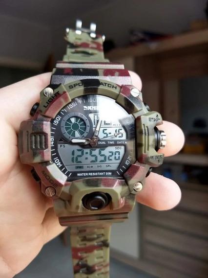 Relógio Skmei Masculino Camuflado Militar