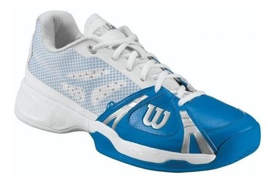 Tênis Wilson Rush Hc W - Azul/branco