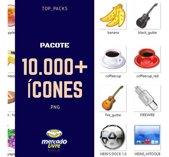 Pacote De Ícones Em Png 10.000+ Entrega Rápida