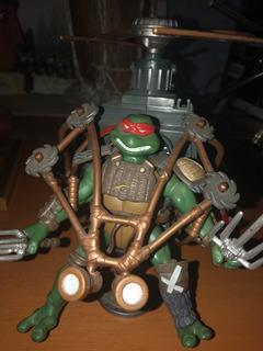 Tortuga Ninja Con Accesorios (rafael)