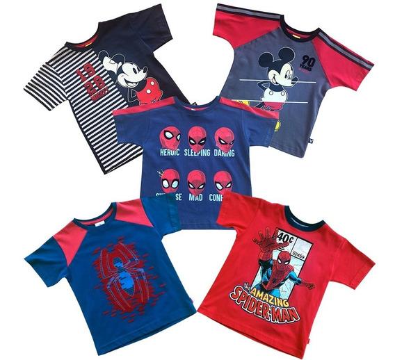 Playeras De Marvel Y Disney Para Niño Oficiales 5-pack