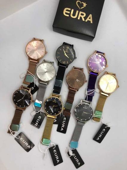 10 Kit De Relógios Da Marca Eura Premium Imã Atacado/revenda