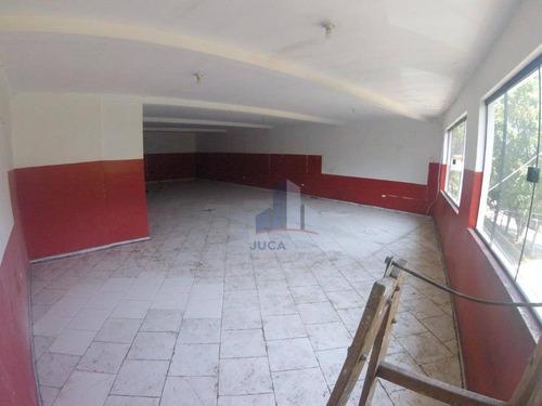 Salão Para Alugar, 150 M² Por R$ 2.500,00/mês - Parque Das Américas - Mauá/sp - Sl0107
