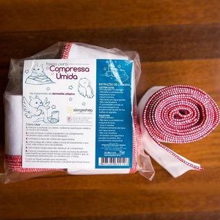 Kit Faixas Para Compressas 2 Elastano + 2 Cotton Tamanho P