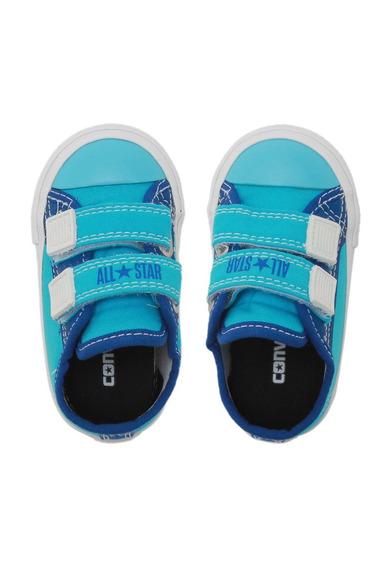 Tênis Converse Menino Border 2v Azul Original