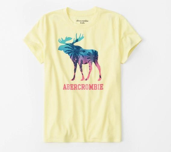 Camiseta Abercrombie Infantil Menina Verão Original Blusa