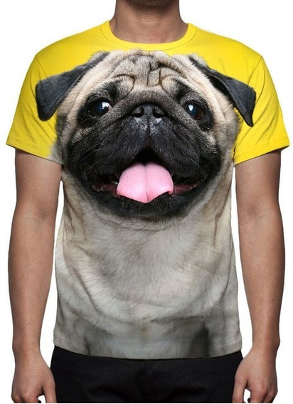 Camisa, Camiseta Cão Pug Mod 02 - Promoção