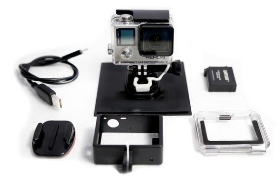 Kit Gopro Hero 4 Black Ed. Usado Em Ótimo Estado