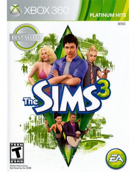 Jogo The Sims 3 - Xbox 360 - Novo - Mídia Física