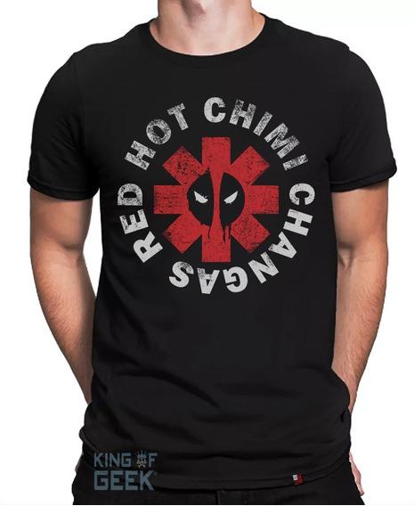 Camiseta Deadpool Filme Camisa Geek Preta Algodão Série