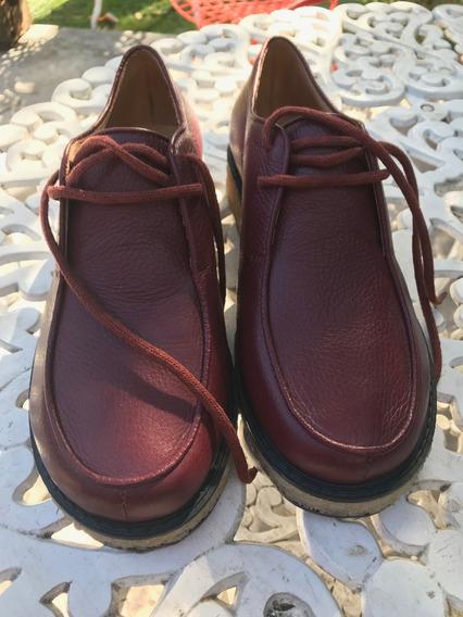 Zapatos Cuero Mishka Abotinado Moe 41 Bordo Nuevos Sin Uso