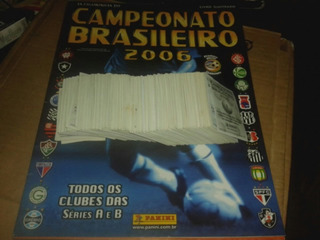 Álbuns Campeonato Brasileiro 2006 + 177 Figurinhas Soltas.