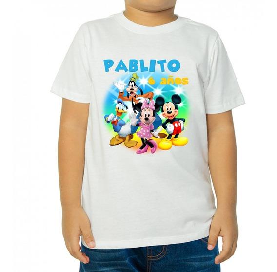 Mickey Mause - 10 Playeras Personalizadas Para Fiestas Infantiles