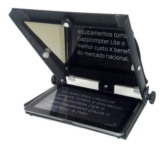 Teleprompter Portátil Gazpromptlit 10,5 C Suporte Smartphone