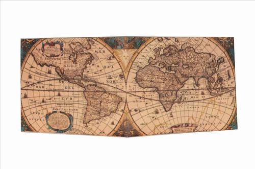 Billetera Ecológica De Papel Tyvek!!! Modelo Mapa Vintage!!!