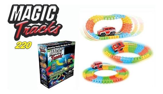 Juguete Magic Tracks Pista Mágica Carritos Brilla Oscuridad
