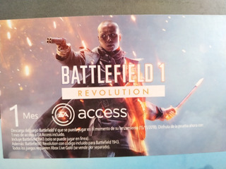 Battlefield 1 Revolution + Battlefield 1943+ 1 Mes Ea Access