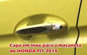 Aplique Capa De Maçaneta Cromado Para Honda Fit 2015