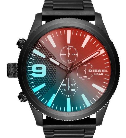 Relógio Diesel Masculino Original Preto Camaleão Promoção