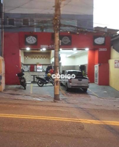 Imagem 1 de 18 de Salão Comercial Para Alugar, 240 M² Por R$ 5.600/mês - Jardim Vila Galvão - Guarulhos/sp - Sl0035