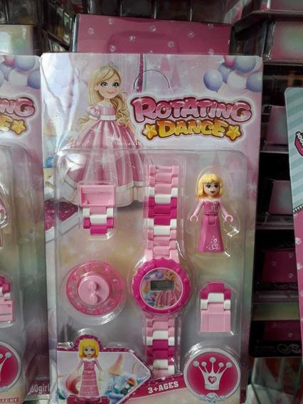 Relógio De Pulso Digital Princesa C/ Lego Infantil Promoção