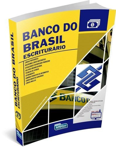 Banco Do Brasil Escriturário Livro Alfacon Frete Grátis