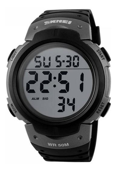 Relógio Masculino Skmei Digital 1068 Preto E Cinza Original