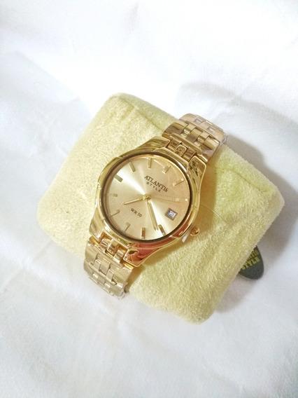 Relógio Feminino Dourado Atlantis 6608g Original