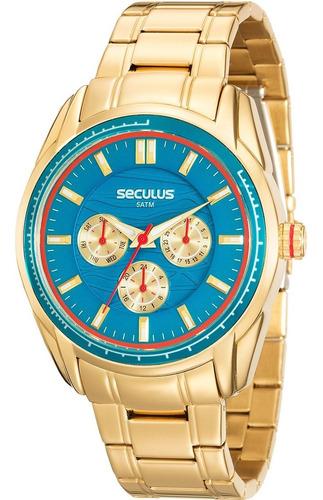Relógio Feminino Seculus Multifunção Dourado 20557lpsvds2