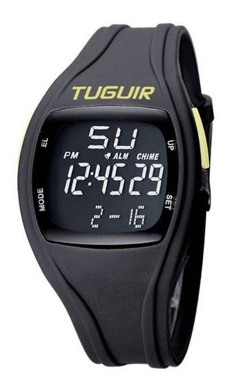 Relógio Unissex Tuguir Tg1602 Preto E Verde C/ Garantia E Nf