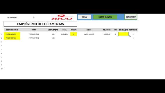Controle Emprestimo Excel
