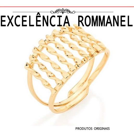 Anel Rommanel Fios Torcidos Vazado 511045