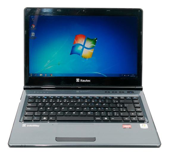 Notebook Usado Itautec Hd 500gb 4gb Win10 Wifi Hdmi Promoção