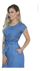 Moda Evangélica Saia Longa Jeans Leve Sem Lycra Luxo - 071