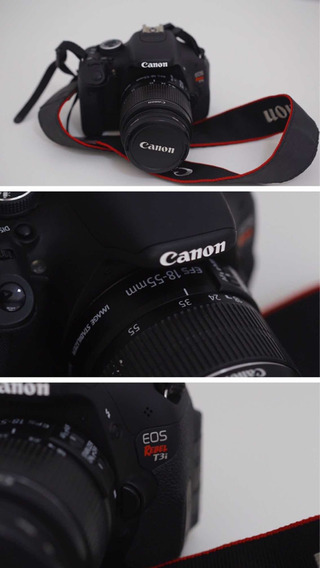 Câmera T3i Canon Semi Profissional