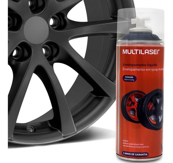 Spray Envelopamento Líquido Multilaser Multiuso Roda Grafite
