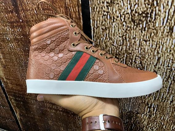 Tênis Gucci Em Couro