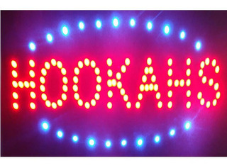 Led Neon Hookahs Open Store Signs Vape E-liquid Sign Bo...