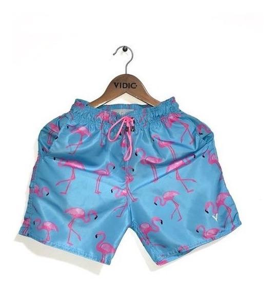 Kit 3 Shorts Estampados Praia Verão Bermuda Masculino
