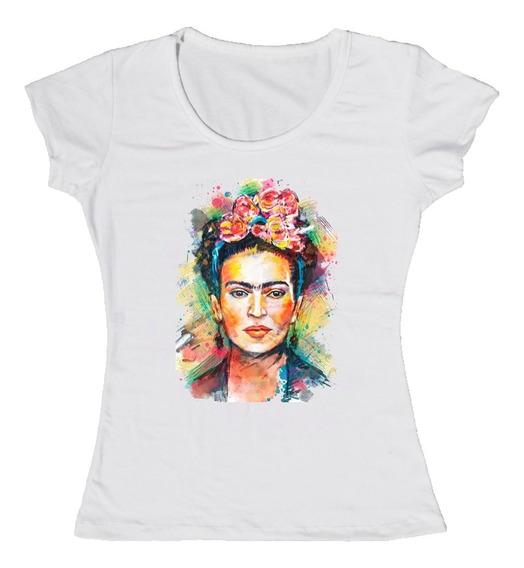Frida Kahlo - Remera Dama - Diseño Arte Ref4