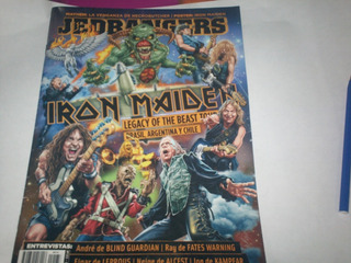 Revista Jedbangers Nro 133 Iron Maiden Con Poster
