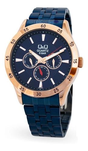 Reloj Qyq Ce02j801y Lujoso Para Caballero Original