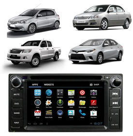 Kit Central Multimidia Toyota Hilux Corolla Gps Waze Android