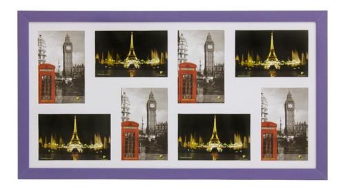 Painel Quadro Multifotos Com Vidro, Parede Pop 8 Fotos 10x15