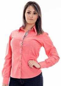 Camisa Blusa Social Feminina Slim Casual Trabalho 2019